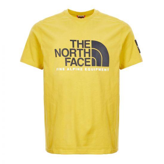 North Face T-Shirt - Yellow 21395CP -1