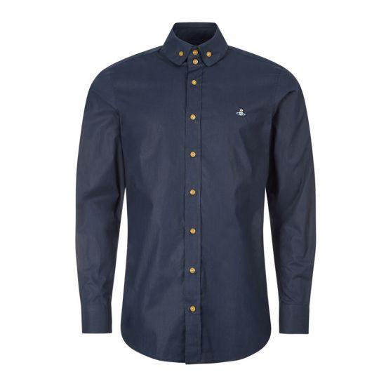 Vivienne Westwood Shirt , 24010021 11622 K403 Navy , Aphrodite 1994