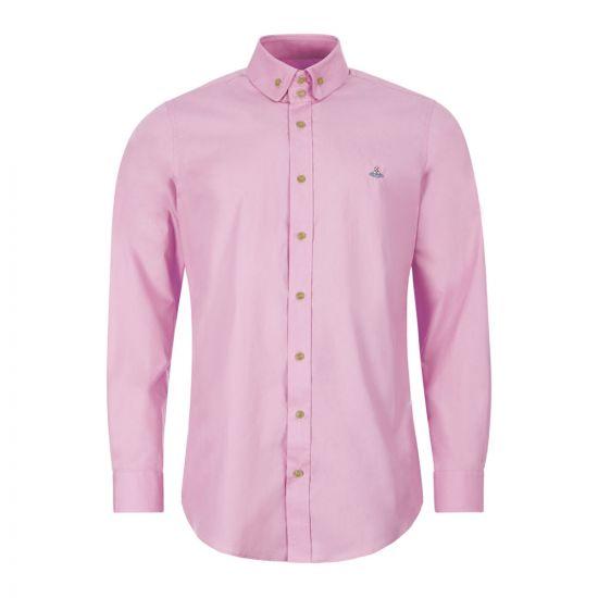 vivienne westwood shirt krall button down 24010021 11622 G403 pink