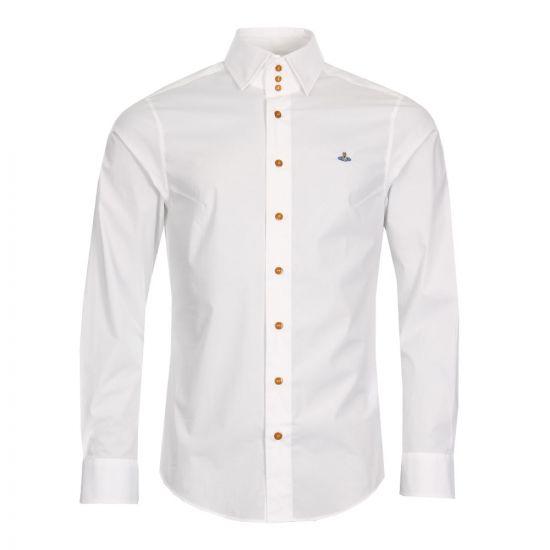 Vivienne Westwood 3 Button Collar Shirt S25DL0427 S47979 100 White