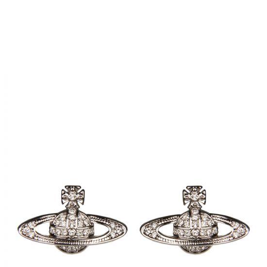 Vivienne Westwood Mini Bas Relief Earrings | 00190102 Silver