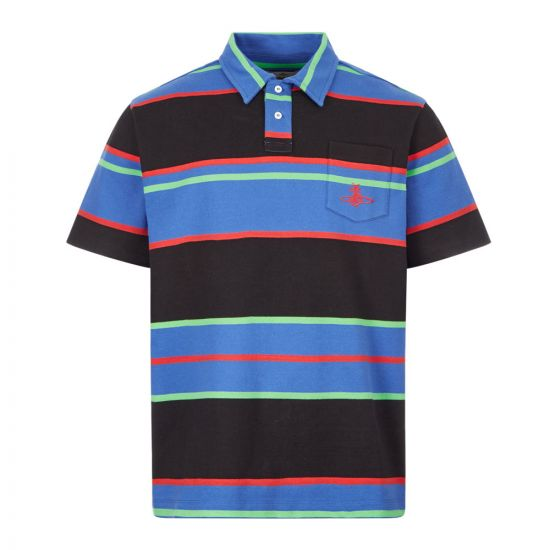 Vivienne Westwood Polo Shirt , 26010030 21683 K201 Blue Striped , Aphrodite 1994