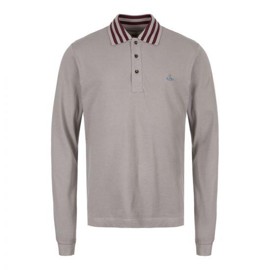 Vivienne Westwood Long Sleeve Polo Shirt S25GL0026 S23142 858 Grey