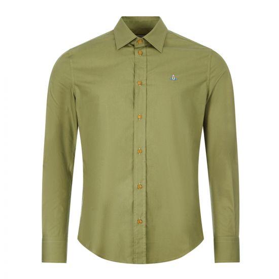 vivienne westwood slim shirt 24010025 11622 PI GRN green