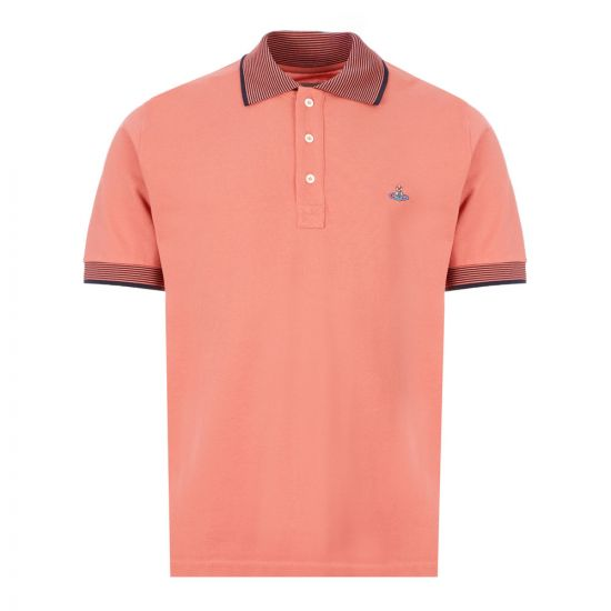 Vivienne Westwood Polo Shirt | S25GL0050 S23142 250 Pink / Navy