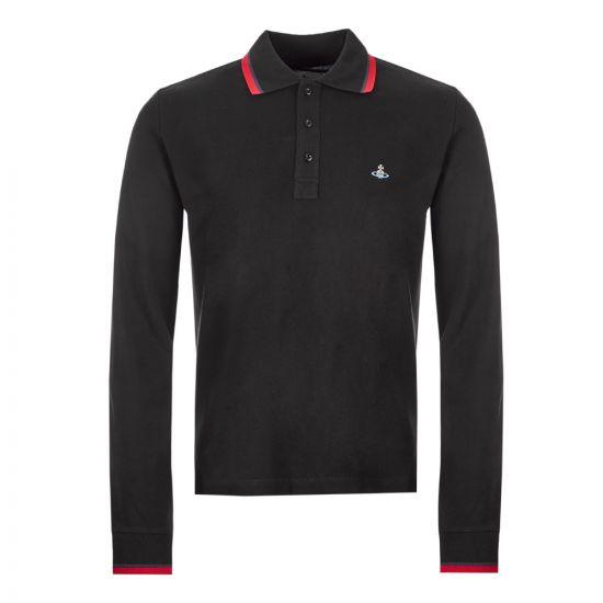 Vivienne Westwood Long Sleeve Polo Shirt - Black 21129CP -1
