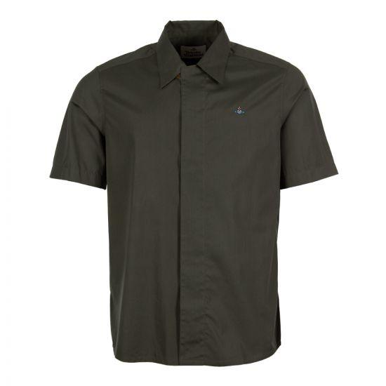Vivienne Westwood Short Sleeve Shirt S25DL0416 S47899 696 Green