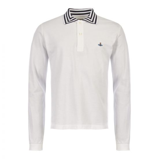Vivienne Westwood Long Sleeve Polo Shirt | S25GL0016 S23142 100 White