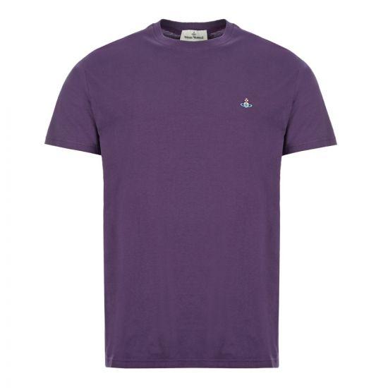 vivienne westwood t-shirt logo S25GC0459 S22634 394 purple