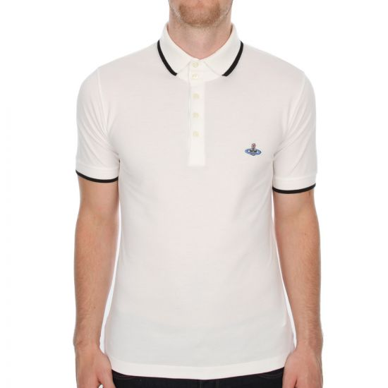 Westwood Tipped Polo - White