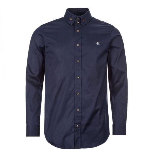 Vivienne Westwood Button Down Shirt - Navy 21751CP -1