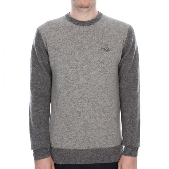 Vivienne Westwood Anglomania Crew Neck Knit Jumper in Grey