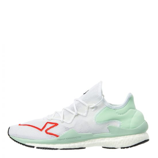 Y-3 Adizero Runner Trainers F97329 White/Green/Red