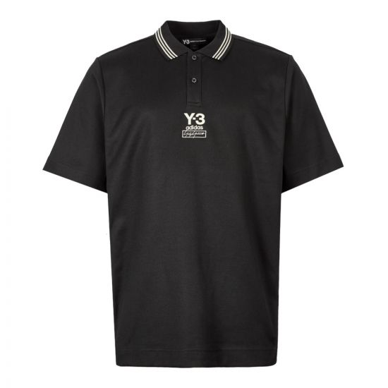 Y3 Collegiate Polo FJ0364 In Black At Aphrodite Clothing