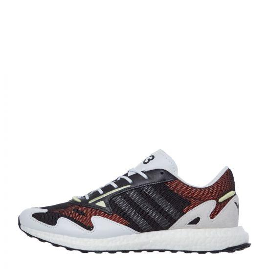 Y3 Rhisu Run Trainers - Black / White 21140CP -1