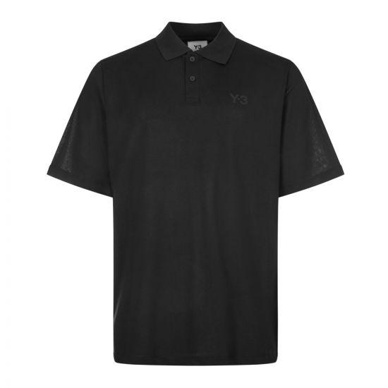 Y3 Polo shirt , FN3355 Black , Aphrodite 1994