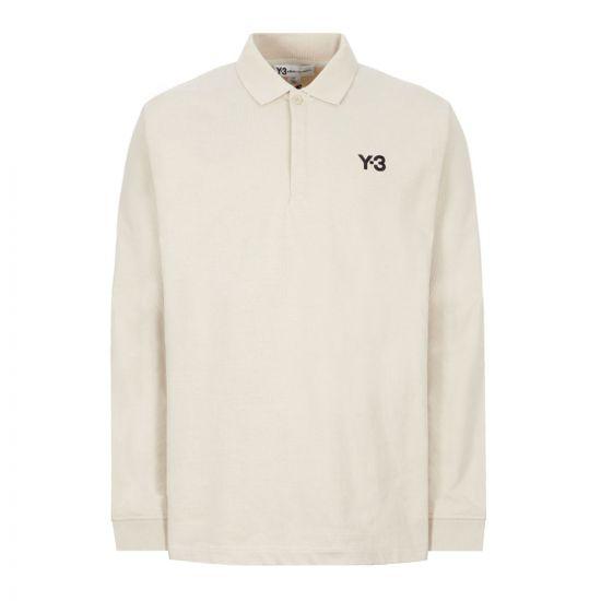 y3 long sleeve polo shirt rugby   FS3382 ecru