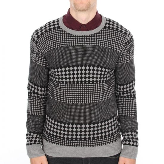 ymc black check jumper