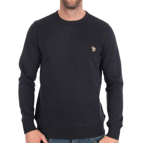 Paul Smith Sweatshirt Navy W/ Zebra Logo 910L/361Z