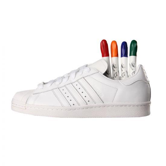 adidas Originals x Gonz Superstar 80s Trainers - White