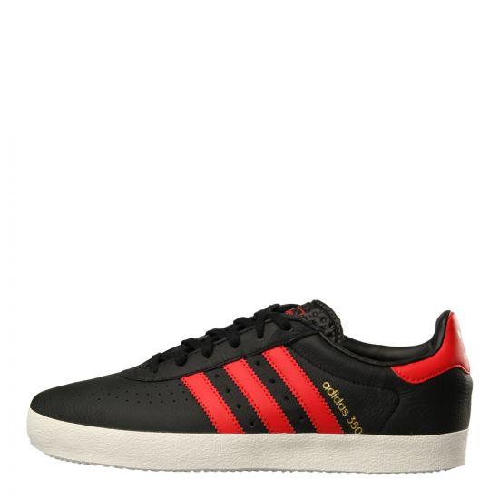 adidas Originals 350 Trainers CQ2771 in Black/Red