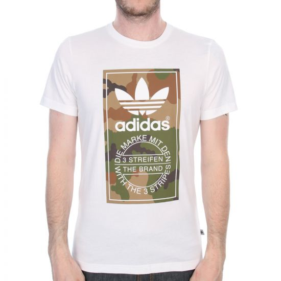 Camo Label T-Shirt - White