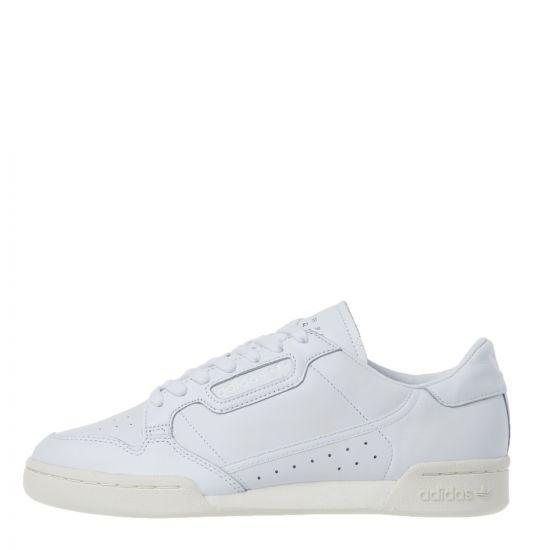 adidas Originals Continental 80 Trainers | EE6329 White