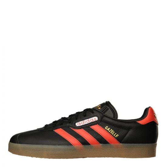 adidas Originals Gazelle Super Trainers CQ2797 Black / Scarlet