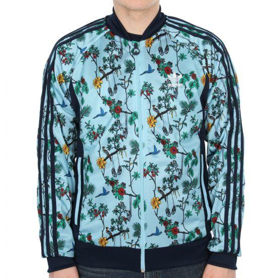 adidas Originals ILSD Superstar Track Jacket in Blush Blue