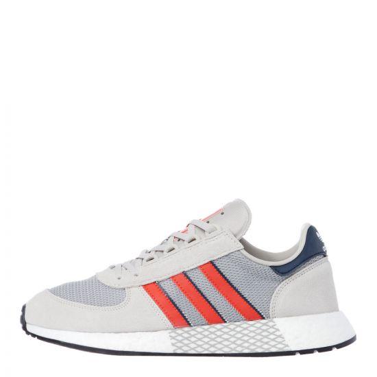 adidas Originals Marathon Tech Trainers   EE4917 Raw White / Grey / Red