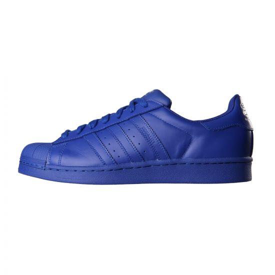 adidas Originals = Pharrell Williams Supercolor Superstar Trainers in Blue