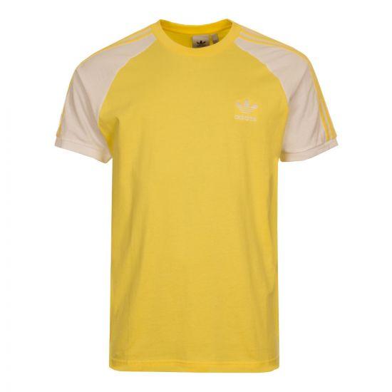 adidas 3 Stripes T-Shirt CW1207 Yellow
