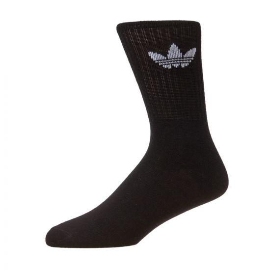 adidas Originals 3 Pack Solid Crew Socks S21490 Black