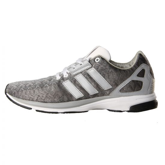 Adidas Originals ZX Flux Tech Trainers in Metallic Silver