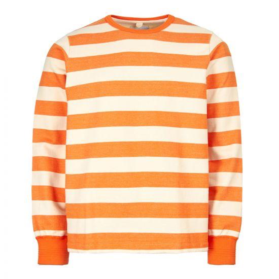 albam sweatshirt ribless ALM611308119 043 orange/ecru stripe