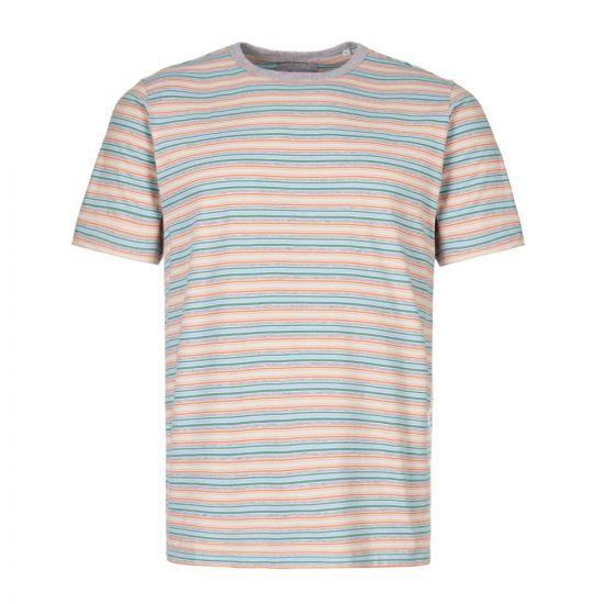 albam t-shirt ALM611421219 019 stripe grey marl