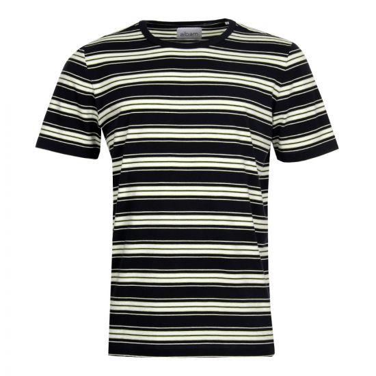 Albam Vintage Stripe T-Shirt Navy & Pistachio