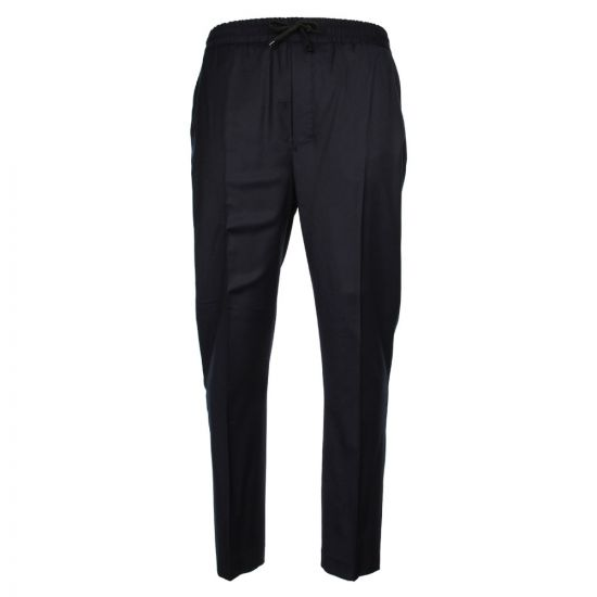 Ami Elasticated Carrot Fit Trousers H17T200-200-410 Navy