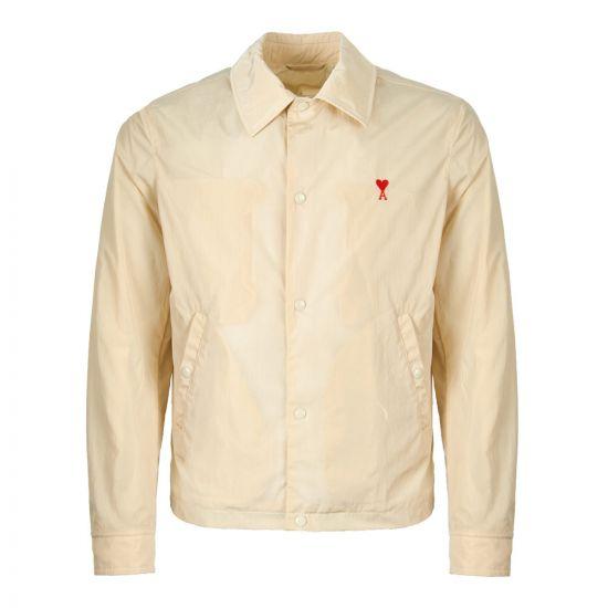 ami jacket snap button E19OW015 232 yellow