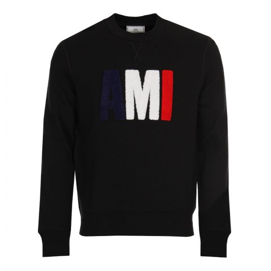 ami sweatshirt tricolour BRSJ0270 black