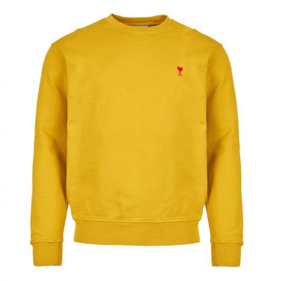 ami sweatshirt ami de coeur E19J007 732 700 yellow