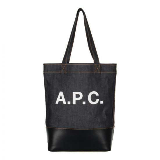 A.P.C. Logo Tote Bag COCMK H61229 Denim / Navy