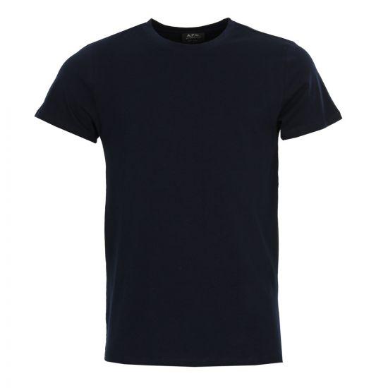 apc t shirt jimmy COBQX-H26504 navy