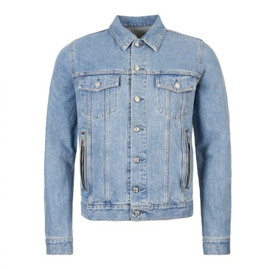 balmain denim jacket RH18222D024 6AA blue