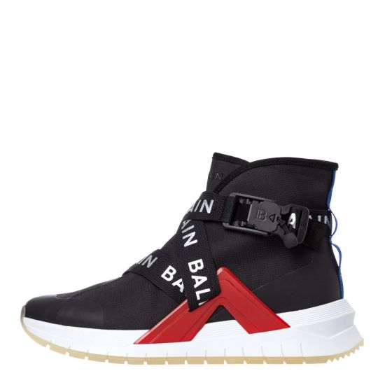 Balmain B-Troop Strap Trainers | SM0C172L012 EAE Black / Red