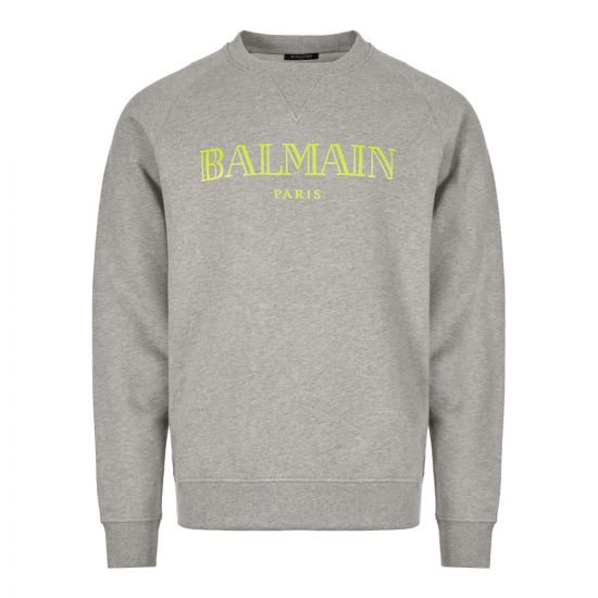 Balmain Sweatshirt Logo SH13279I134 9UB Grey