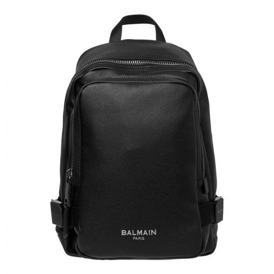 Balmain Urban Backpack RM1S010MZT 0PA in Black Calfskin
