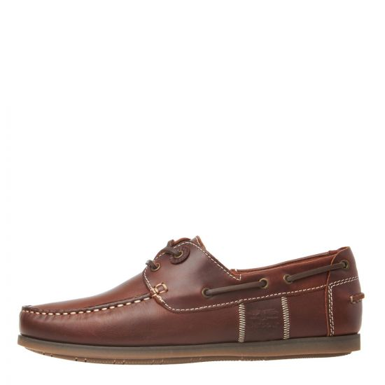 Barbour Boat Shoes Capstan MFO0304 BR73 in Mahogany