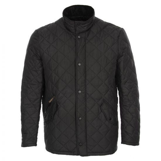 barbour chelsea jacket black sportsquilt mqu0006bk11