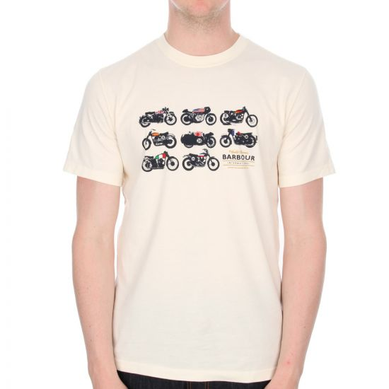 Barbour Motorcycle Convoy Tshirt in Neutral